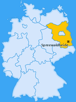Karte von Spreewaldheide