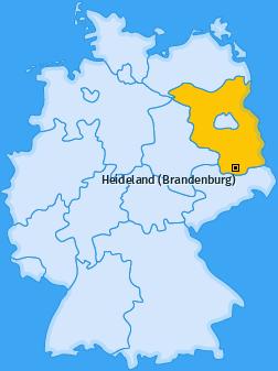 Karte von Heideland (Brandenburg)