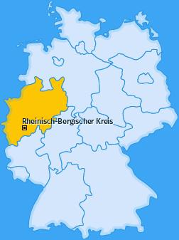 Kreis Rheinisch-Bergischer Kreis Landkarte