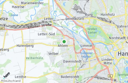 Stadtplan Hannover OT Ahlem