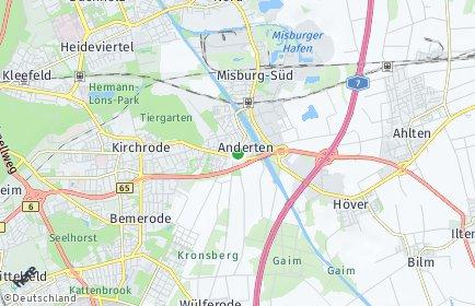 Stadtplan Hannover OT Anderten