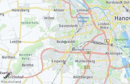 Stadtplan Hannover OT Badenstedt