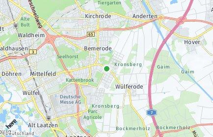 Stadtplan Hannover OT Bemerode