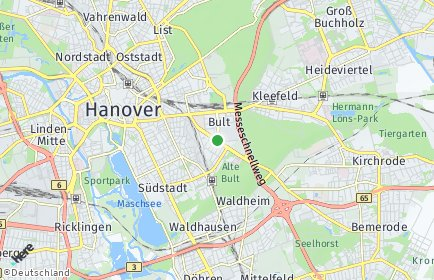 Stadtplan Hannover OT Bult