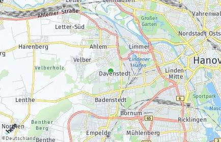 Stadtplan Hannover OT Davenstedt