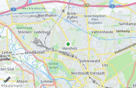 Stadtplan Hannover OT Hainholz