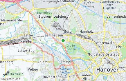 Stadtplan Hannover OT Herrenhausen