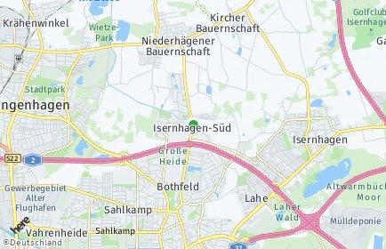 Stadtplan Hannover OT Isernhagen-Süd