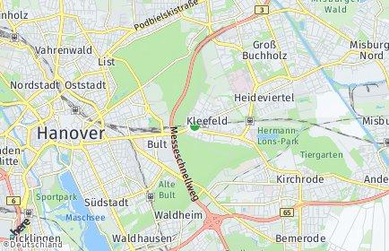 Stadtplan Hannover OT Kleefeld