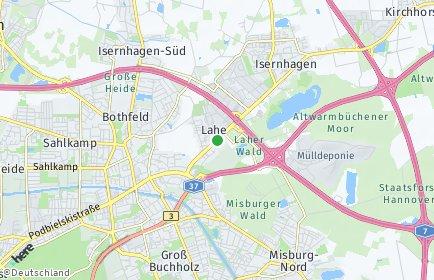 Stadtplan Hannover OT Lahe