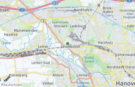 Stadtplan Hannover OT Leinhausen
