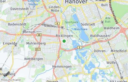 Stadtplan Hannover OT Ricklingen