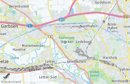 Stadtplan Hannover OT Stöcken