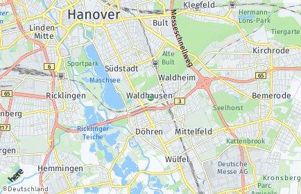 Stadtplan Hannover OT Waldhausen
