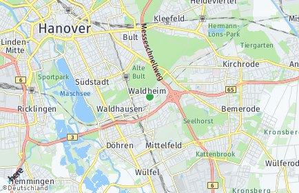 Stadtplan Hannover OT Waldheim