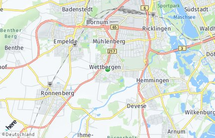 Stadtplan Hannover OT Wettbergen