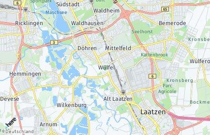 Stadtplan Hannover OT Wülfel