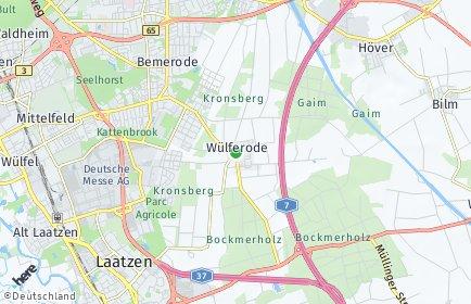 Stadtplan Hannover OT Wülferode