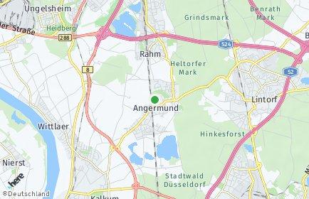 Stadtplan Düsseldorf OT Angermund