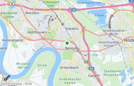 Stadtplan Düsseldorf OT Benrath