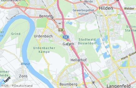 Stadtplan Düsseldorf OT Garath