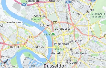 Stadtplan Düsseldorf OT Golzheim