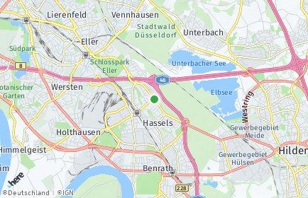 Stadtplan Düsseldorf OT Hassels