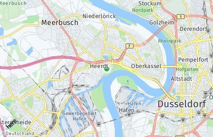 Stadtplan Düsseldorf OT Heerdt