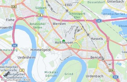 Stadtplan Düsseldorf OT Holthausen