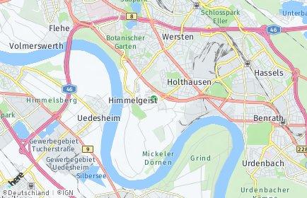 Stadtplan Düsseldorf OT Itter