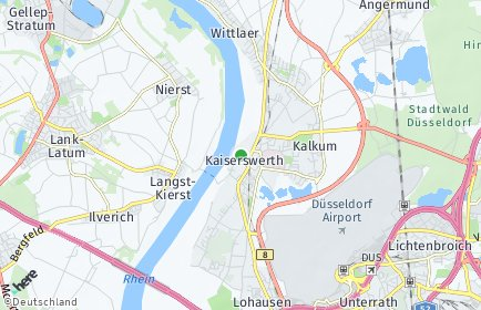 Stadtplan Düsseldorf OT Kaiserswerth