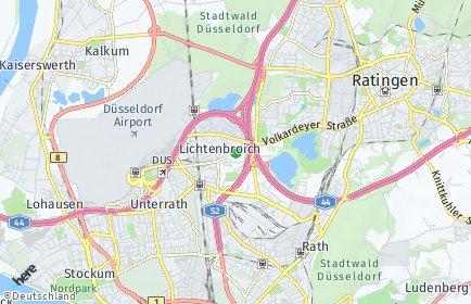 Stadtplan Düsseldorf OT Lichtenbroich