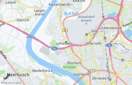 Stadtplan Düsseldorf OT Lohausen