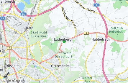Stadtplan Düsseldorf OT Ludenberg