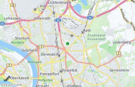 Stadtplan Düsseldorf OT Mörsenbroich