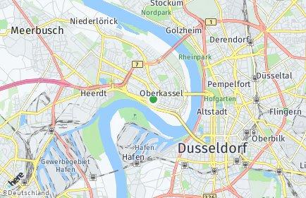 Stadtplan Düsseldorf OT Oberkassel