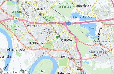 Stadtplan Düsseldorf OT Reisholz