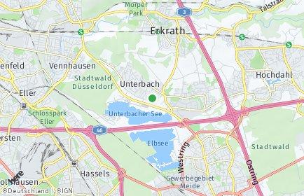 Stadtplan Düsseldorf OT Unterbach