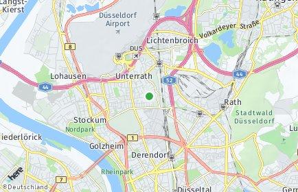 Stadtplan Düsseldorf OT Unterrath