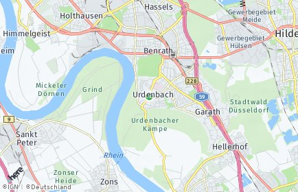 Stadtplan Düsseldorf OT Urdenbach