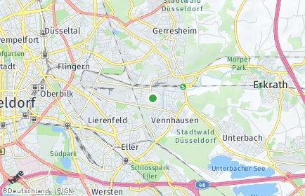 Stadtplan Düsseldorf OT Vennhausen