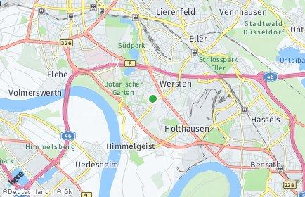 Stadtplan Düsseldorf OT Wersten