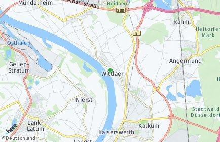 Stadtplan Düsseldorf OT Wittlaer