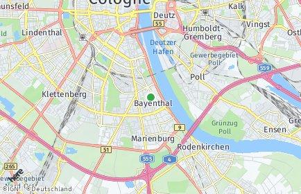 Stadtplan Köln OT Bayenthal