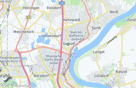 Stadtplan Köln OT Godorf