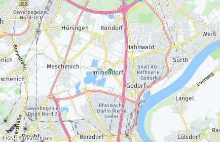 Stadtplan Köln OT Immendorf