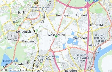 Stadtplan Köln OT Meschenich