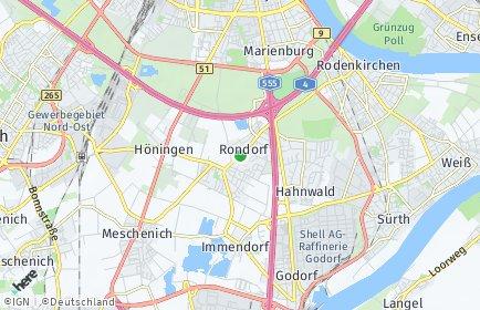 Stadtplan Köln OT Rondorf