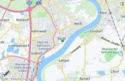 Stadtplan Köln OT Sürth