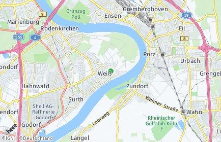Stadtplan Köln OT Weiß